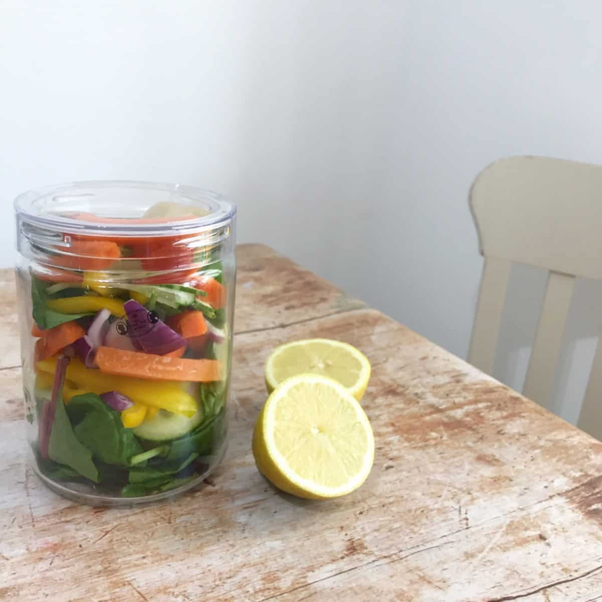 Time Saving Food Hacks – Rainbow Salad
