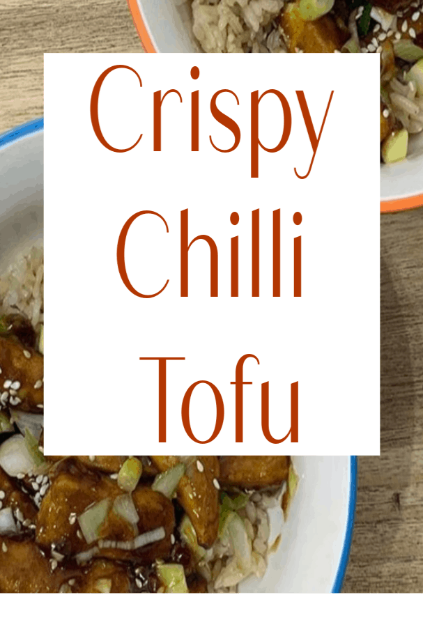 Crispy Chilli Tofu, a tangy tasty vegan recipe that is simple to make a deliciously tasty #vegan #plantbasedrecipe #Bosh! #tofurecipe #chillitofu #eatsimply