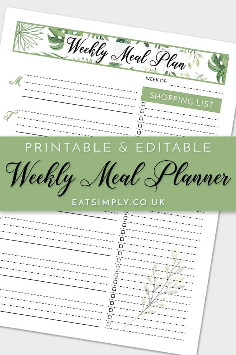 Free Meal Planner Printable