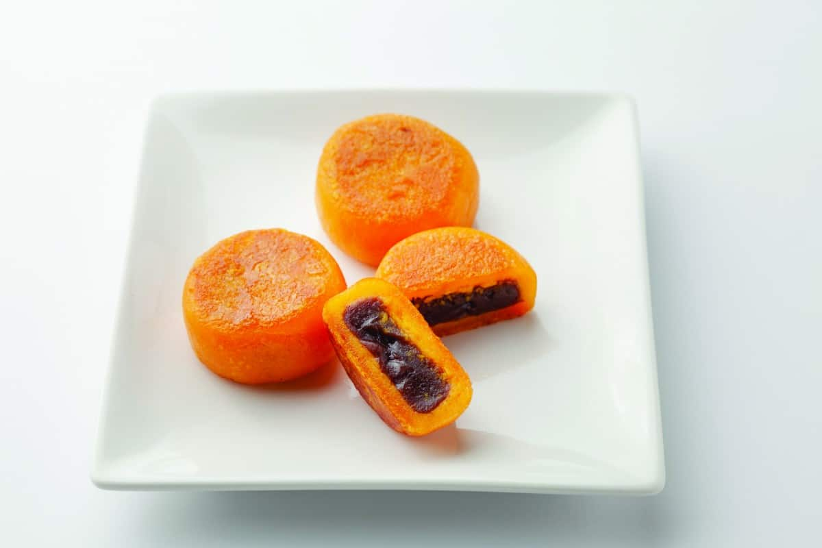 Fried Pancake with Pumpkin & Red Bean Paste